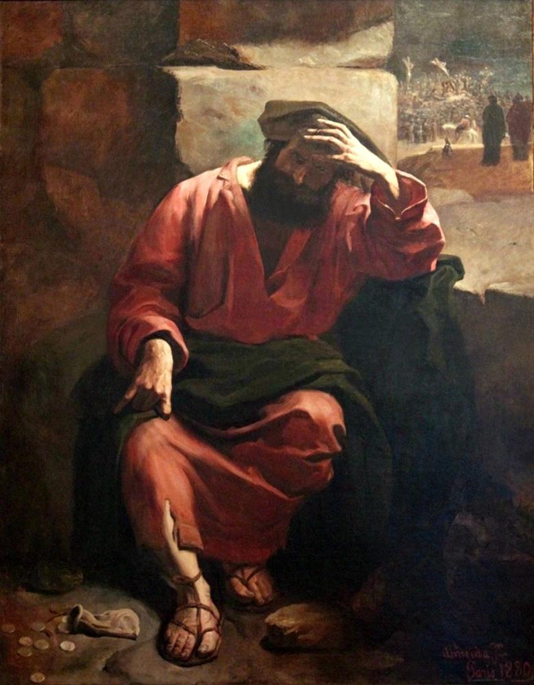 Regretul lui Iuda, José Ferraz de Almeida Júnior, 1880