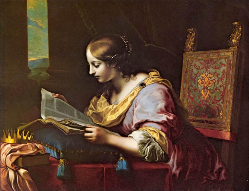 Sfânta Catherine citind o carte, Carlo Dolci, 1670