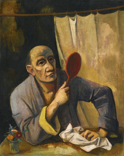 Bărbat cu oglindă, Karl Hofer, 1937