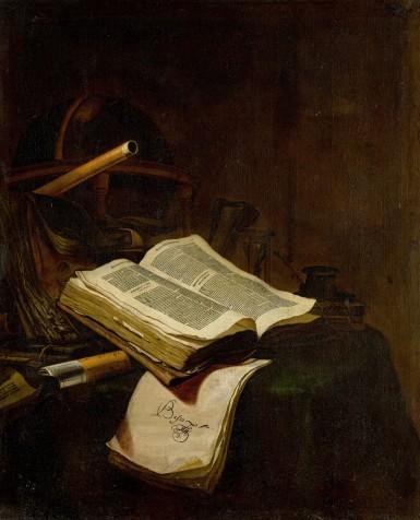 Jan Vermeulen, Natură moartă cu o carte deschisă, 1655
