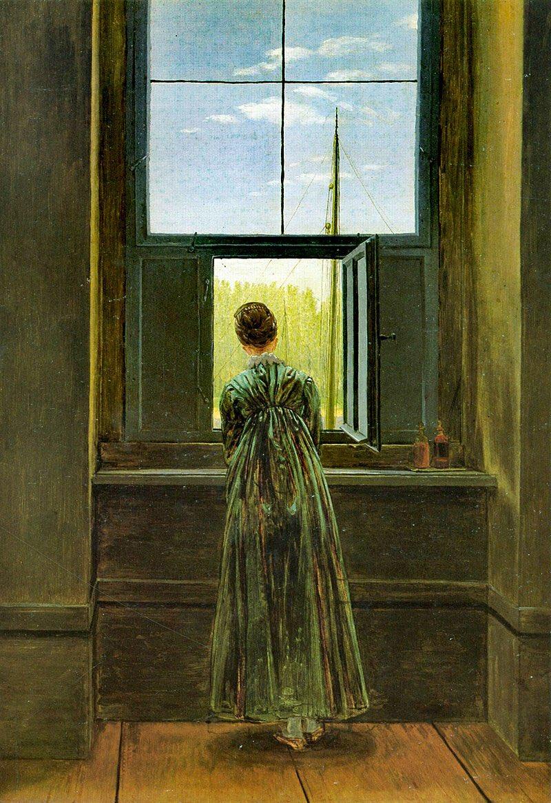 PAUNESCU - Caspar David Friedrich, Femeie la geam, 1822