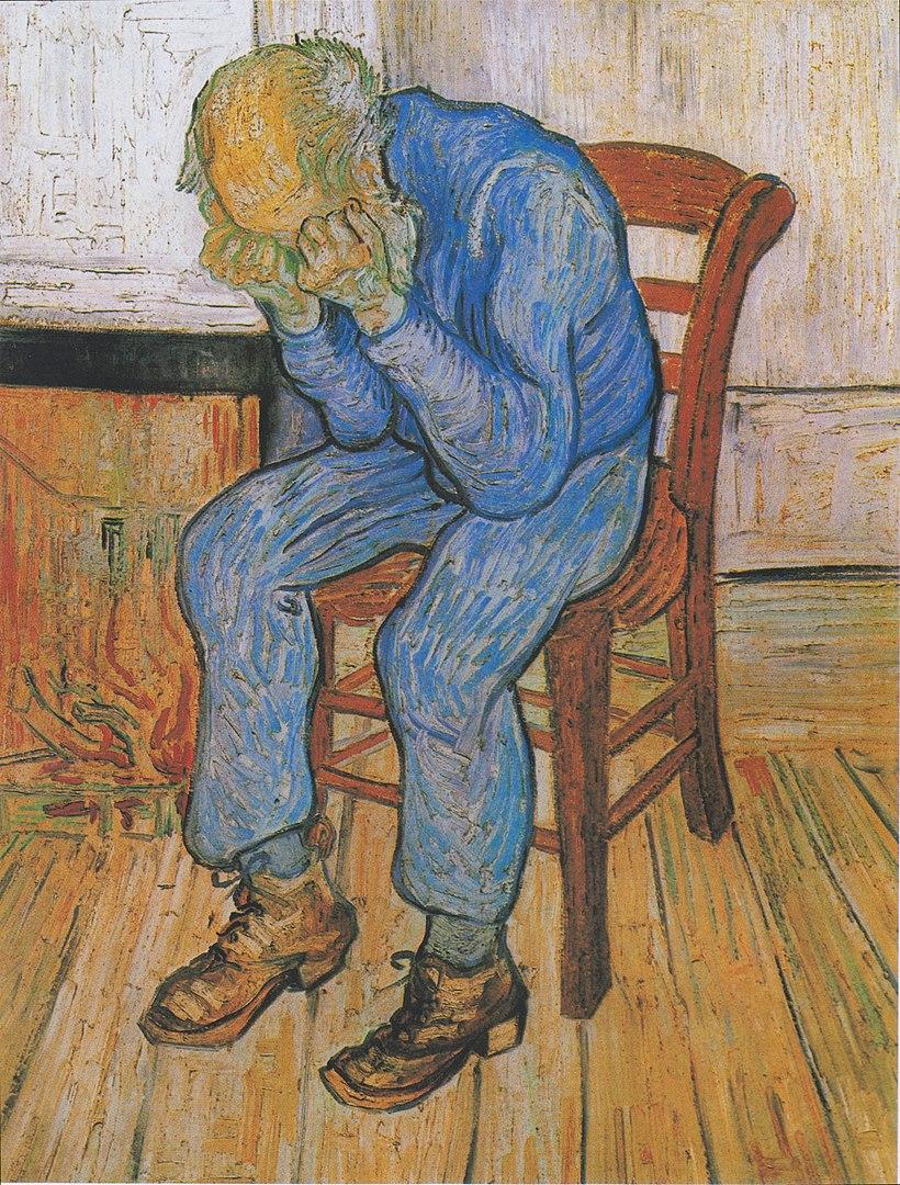 """Vincent van Gogh, Bătrân suferind (""""La Poarta Eternității""""), 1890"""