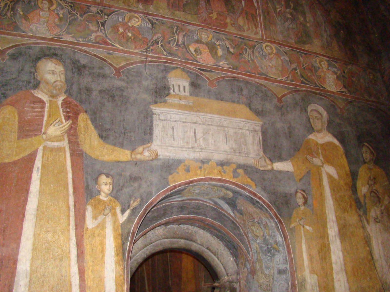 Mareș Băjescu, tablou votiv la Biserica de la Băjești-Argeș