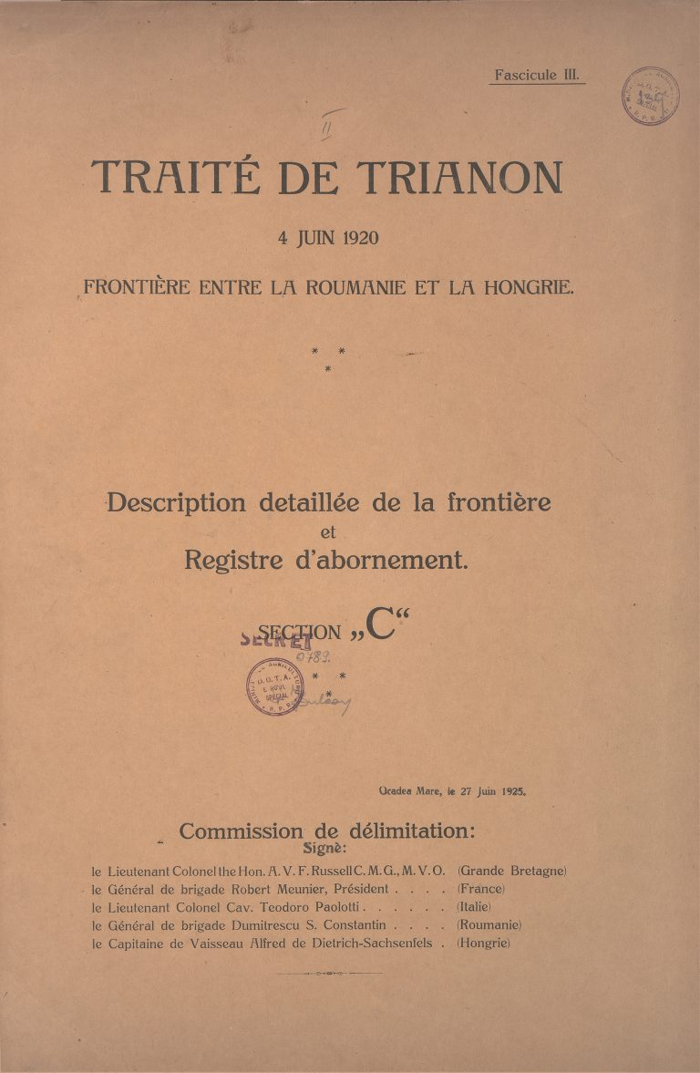 Tratatul de la Trianon, 4 iunie 1920