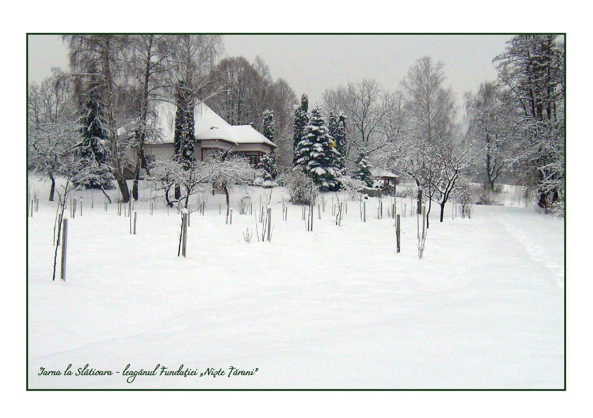 Casa Slătioara - iarna