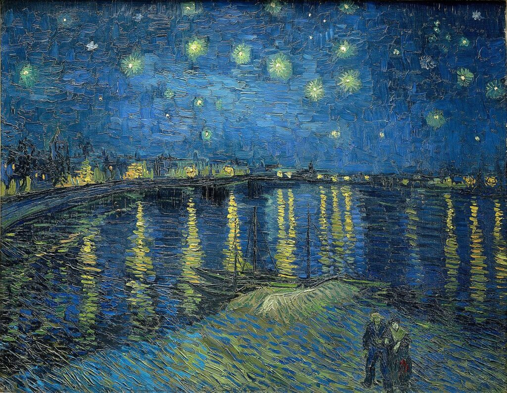 Vincent van Gogh, Noapte înstelată peste Ron, 1888