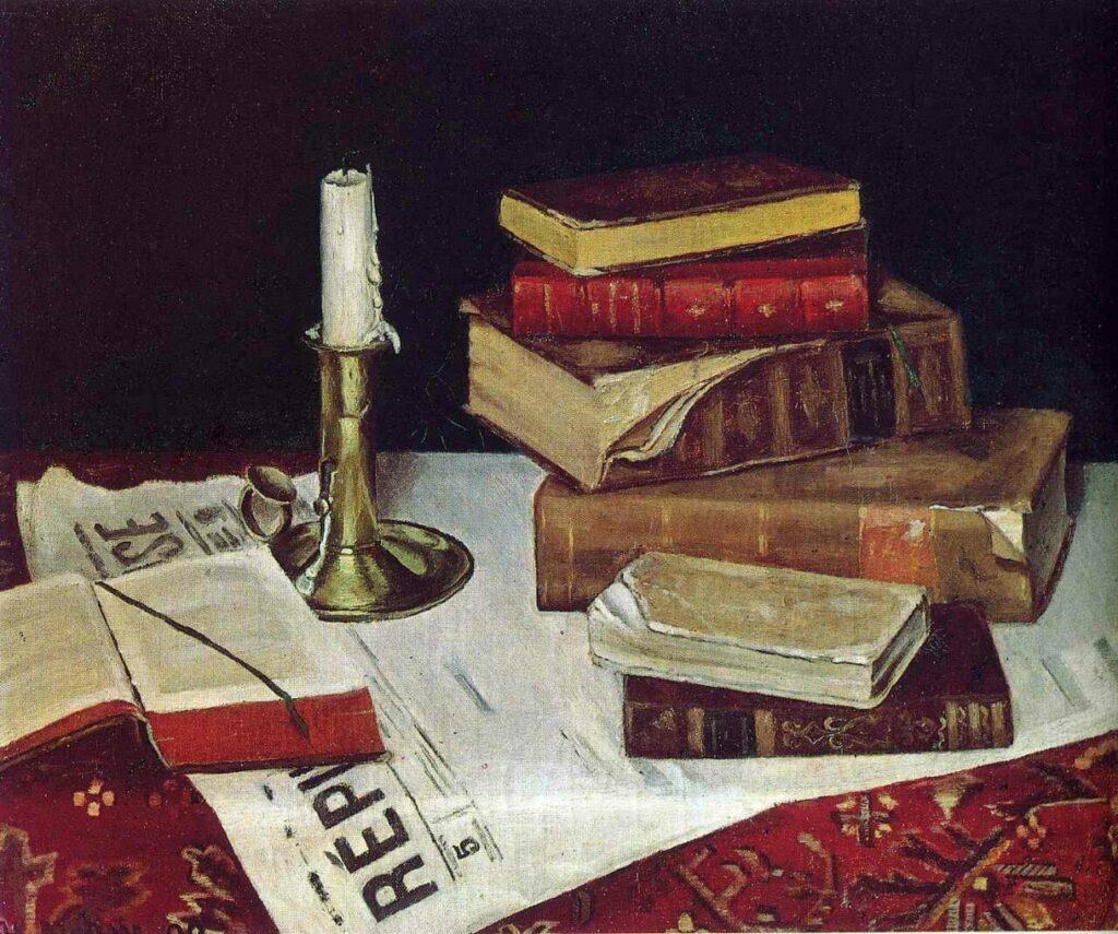 Henri Matisse, Natură moartă cu cărți și lumânare, 1890